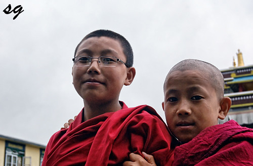 young monks | by Saptak Ganguly