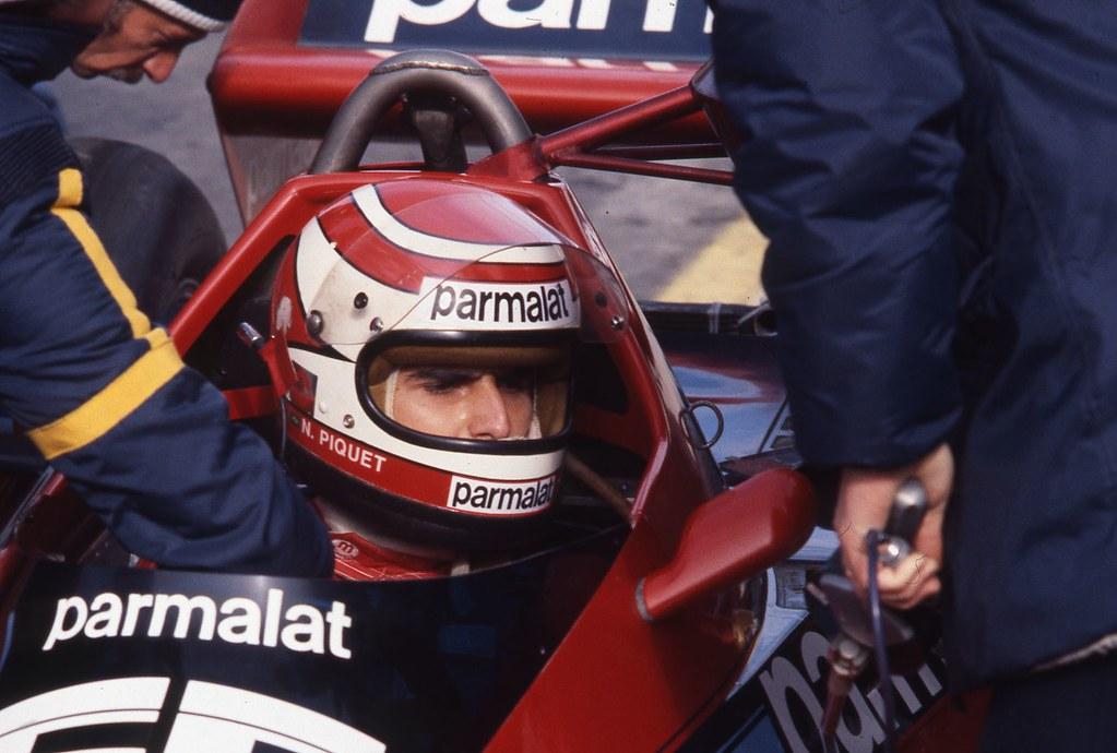 Nelson Piquet Au Volant De Sa Brabham Alfa Romeo 8 Octobr
