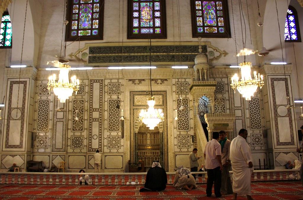 qibla wall  umayyad mosque  damascus