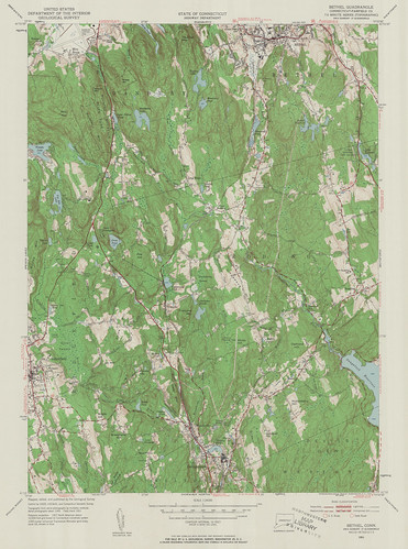 Bethel Quadrangle 1951 - USGS Topographic Map 1:24,000 | by uconnlibrariesmagic