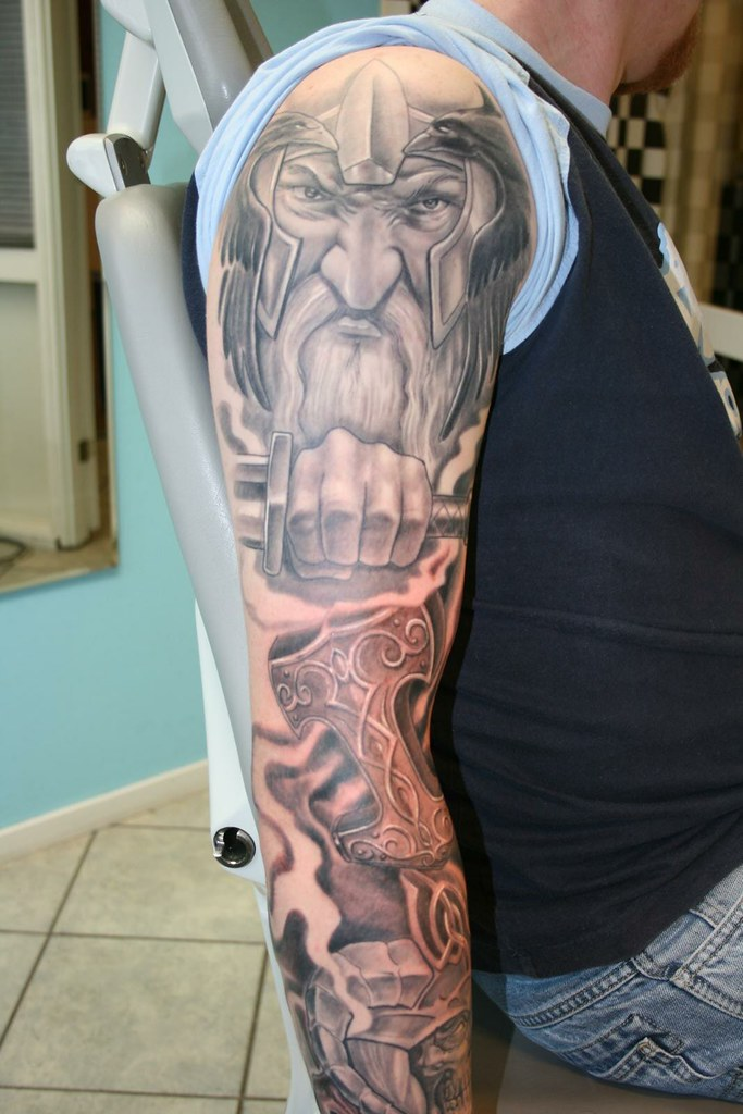viking style tattoo sleeve chavdar dobrev flickr