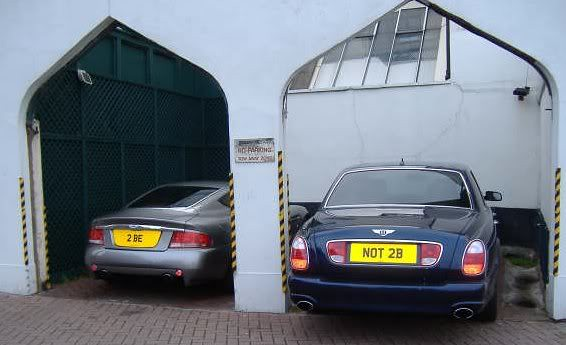 Bentley 2be Or Not 2b Number Plates Two Prestigous Cars