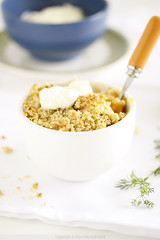 Gluten Free Apricot Almond Crumbles with Ginger | by Bron Marshall