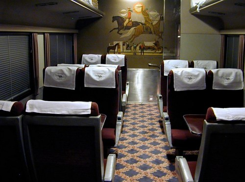 private rail car silver lariat coach dining interior flickr. Black Bedroom Furniture Sets. Home Design Ideas