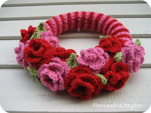 Valentine Wreath | by Just Be Happy Crochet