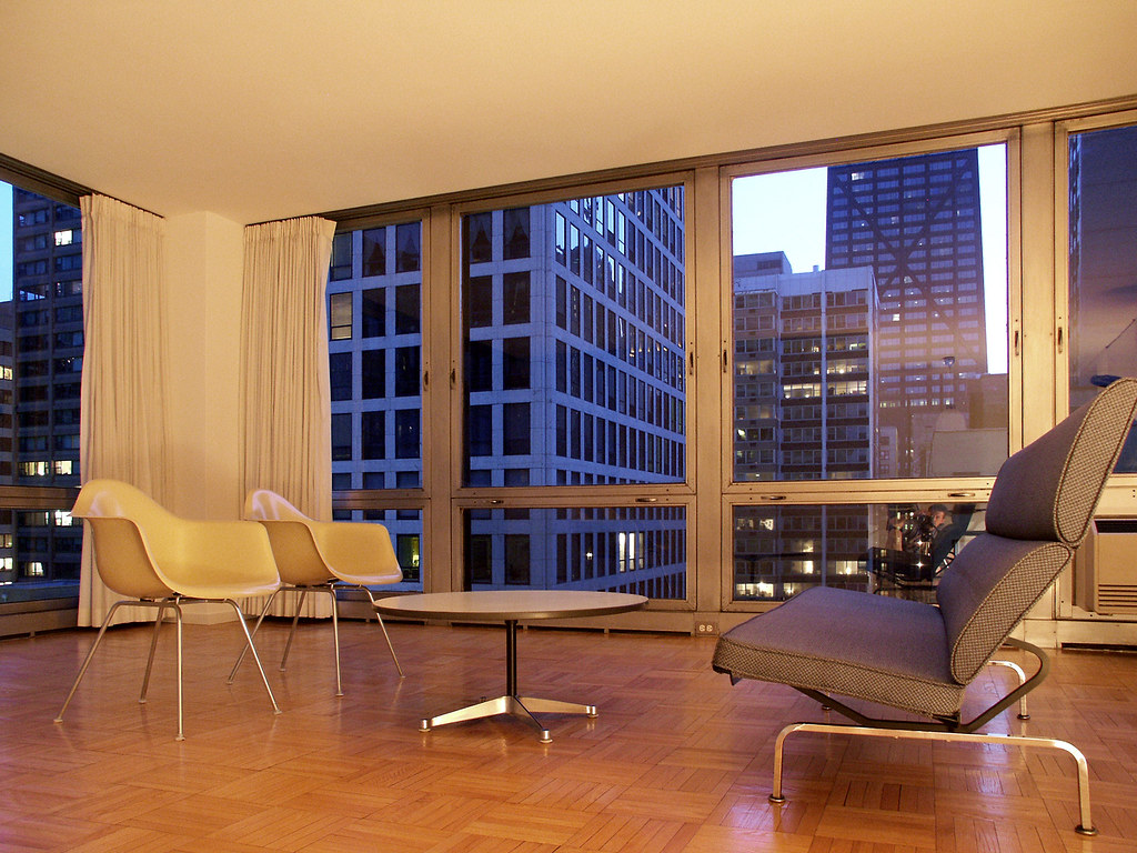 880 Lake Shore Drive | Low living room view at twilight, wit\u2026 | Flickr