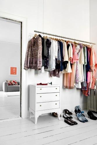 Bedroom open closet giac1061 flickr - Open closets small spaces paint ...