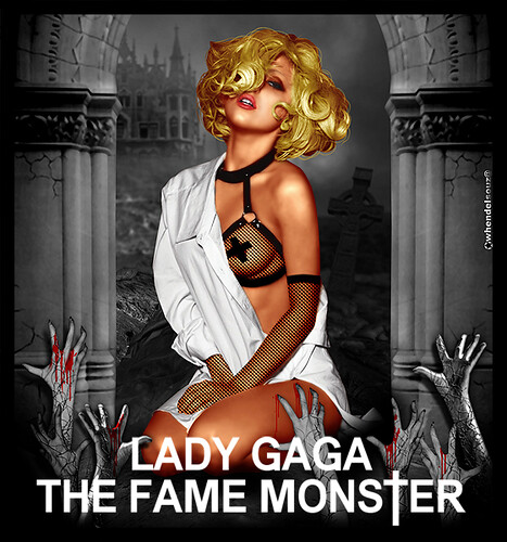 Lady Gaga - The Fame Monster - whendelsouz@   by W h e n d e l l Gaga