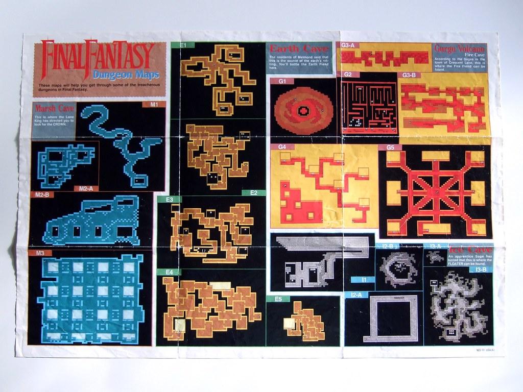 Final Fantasy (NES) map, side one   Bryan Ochalla   Flickr