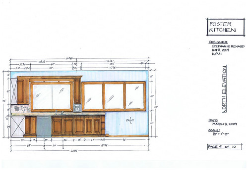 Foster Kitchen Design-North Elevation | INTR 224 ...