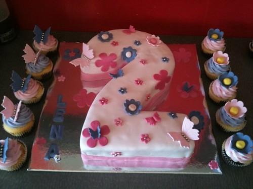 Cake Designs Number 2 : number 2 cake + matching cupcakes melanie Flickr