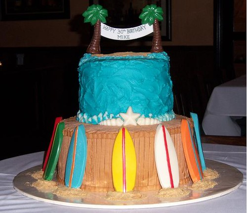 Surfboard Cake 3 Layer 12 Quot And 3 Layer 8 Quot Homemade