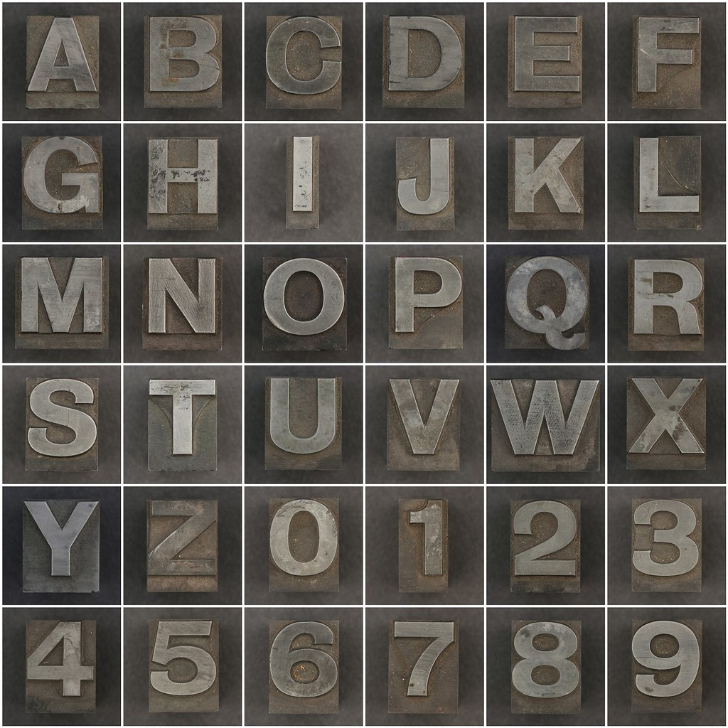 Metal Letters And Numbers Interesting All Sizes  Caslon Metal Type Letters And Numbers  Flickr  Photo Design Inspiration
