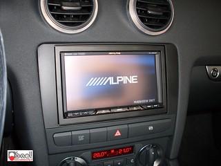 alpine ixa w407bt su audi a3 radiomonitor alpine installat flickr. Black Bedroom Furniture Sets. Home Design Ideas