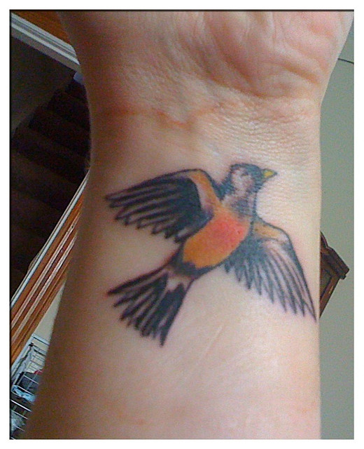 Robin bird tattoo | Wouldn't it be wicked weird if a robin ...