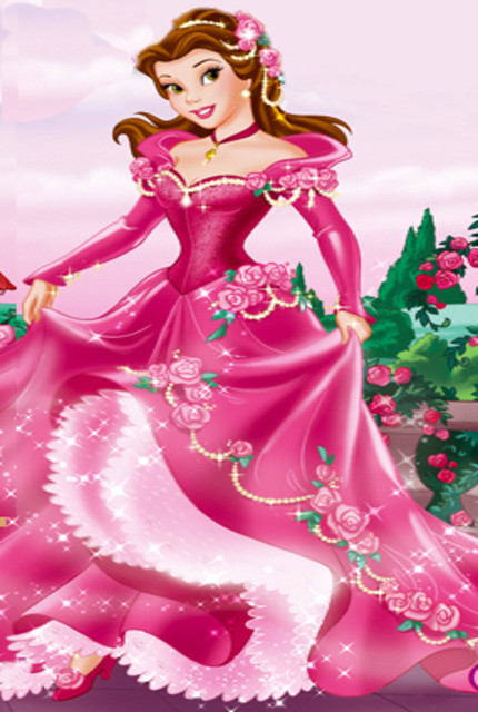 Princess Belle in Pink flower Gown | This is my Princess ...