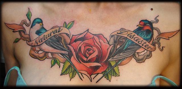 bird banner rose tattoo flickr photo sharing. Black Bedroom Furniture Sets. Home Design Ideas