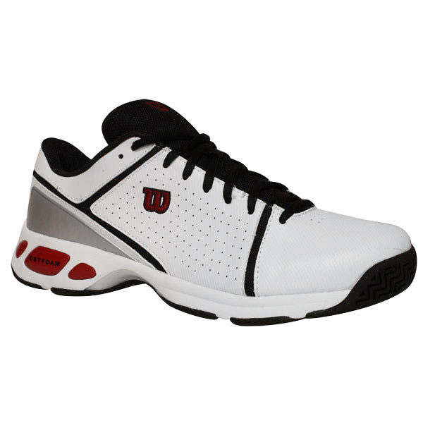 Wilson Tour Contender Men S Tennis Shoes White Red Flickr