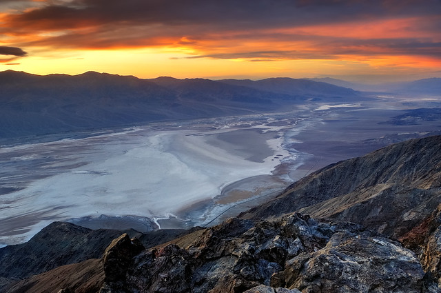 Sunset Over Badwater Basin From Dante U0026 39 S View  Death Valley