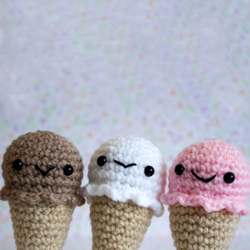 Amigurumi Kawaii Ice-Creams These little ice-creams are ...