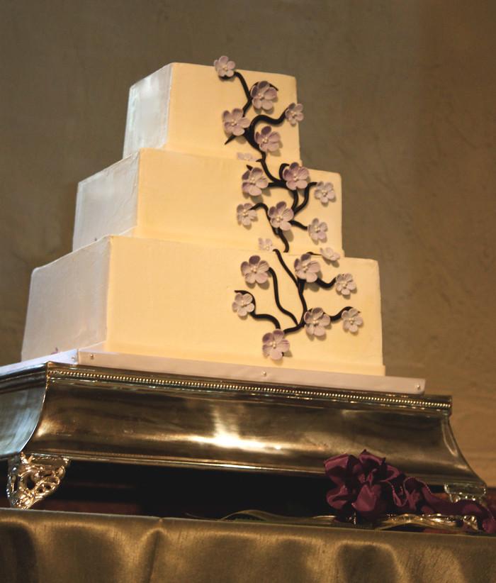 Cherry Blossom Wedding Cake | Jasmine Clouser | Flickr