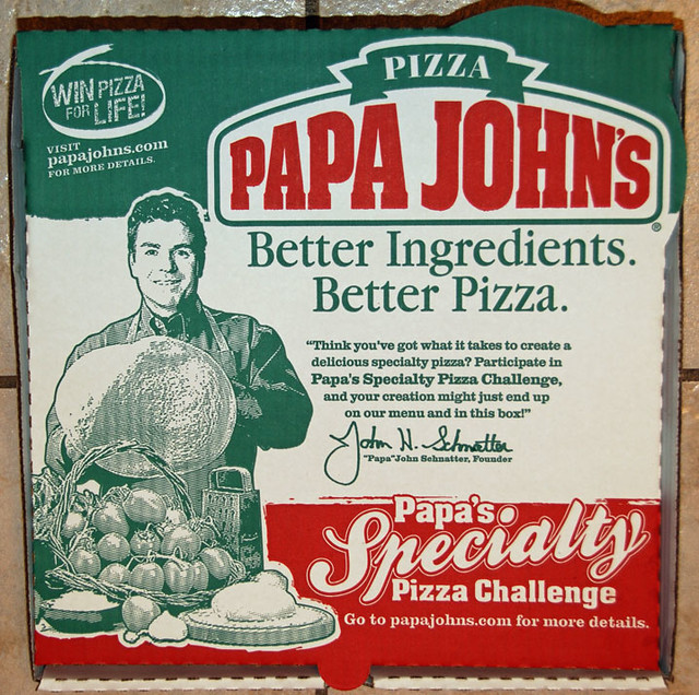 Papa John's Pizza Box | Flickr - Photo Sharing! Papa Johns Pizza Box Opened