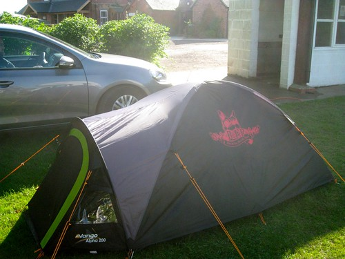 We got set up with luxury accomodation... (the tent stencilling was a nice touch) | by jetsetwhitetrash