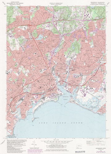 Bridgeport Quadrangle 1984 - USGS Topographic 1:24,000 | by uconnlibrariesmagic