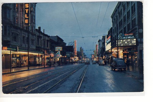 Granville Street looking south, 1954. | by glenalan54