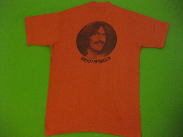 George Harrison Vintage T Shirt Extra Texture Rear Print