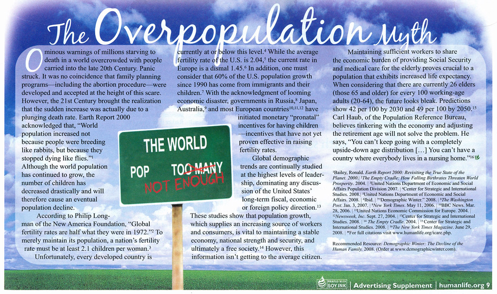 A discussion on overpopulation in the world