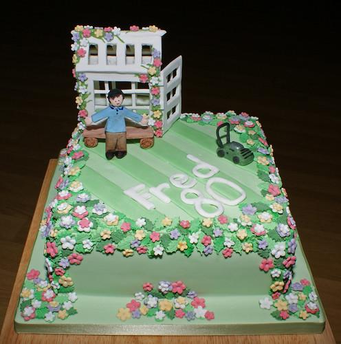 Gardening birthday cake birthday cake made by janet for for Gardening 80th birthday cake