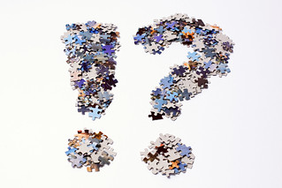 Punctuation marks made of puzzle pieces | by Horia Varlan