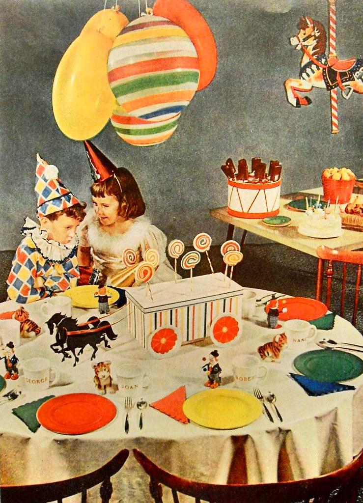 1950s children birthday party decorations interior photo v Flickr