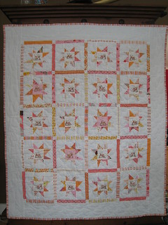 wonky star quilted and bound | by Leigh - leedle deedle quilts