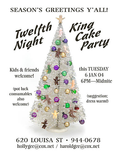 2004 Twelfth Night Party invitation | It was a good party ...