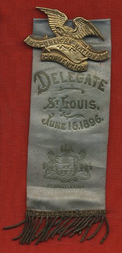 Pennsylvania Republican National Convention Delegate's Ribbon, 1896 | by Cornell University Library
