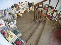 books on stairs | by amanda.siegers