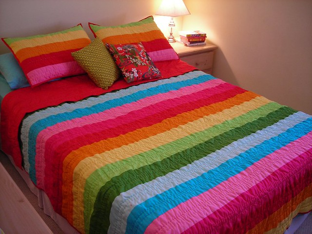 Rainbow Brite Bed Our New Quilt And Shams From Target