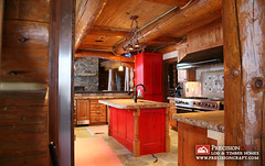 Wyoming log homes kitchen more design inspiration at the for Jackson wy alloggio cabine