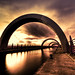 Falkirk Wheel at Sunset - good news and bad news
