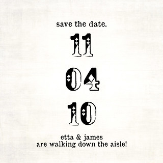 white rabbit Save the Date Back | by Melanie Alvarez | Papergirl Press