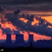 365-271 Fiddlers Ferry Power Station, Cheshire UK At Dusk