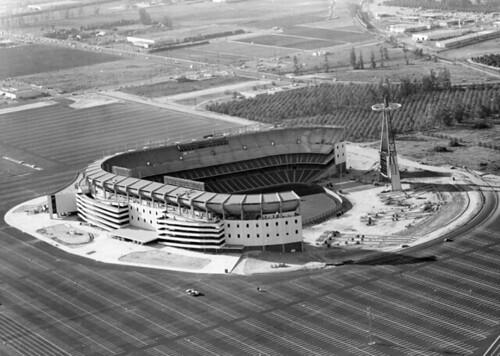 1966 Construction Of Angel Stadium Construction Of Angel