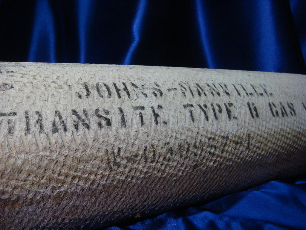 Labeled Johns Manville Transite Vent Pipe Section Of