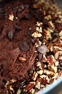 chocolate bread batter with nuts | by David Lebovitz