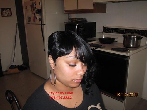 27 Piece Hair Style: Asymmetrical No Hair Left Out