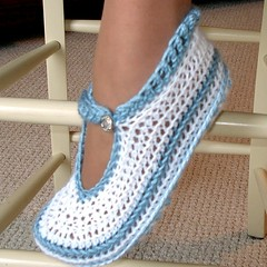 Red Crochet Shoes Sapatanos