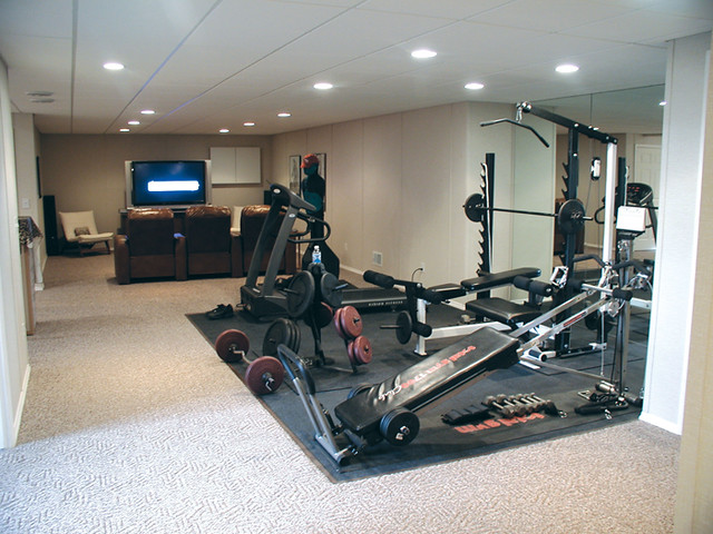 Total basement finishing home gym