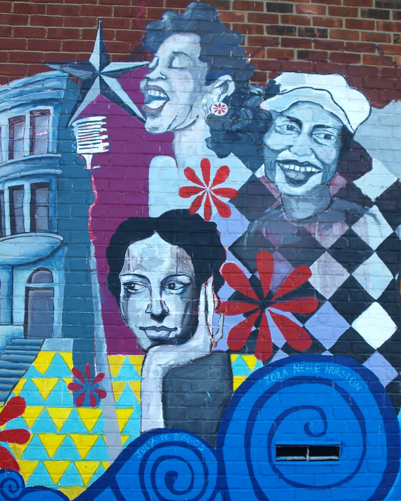 African american women mural harlem new york city flickr for African american mural